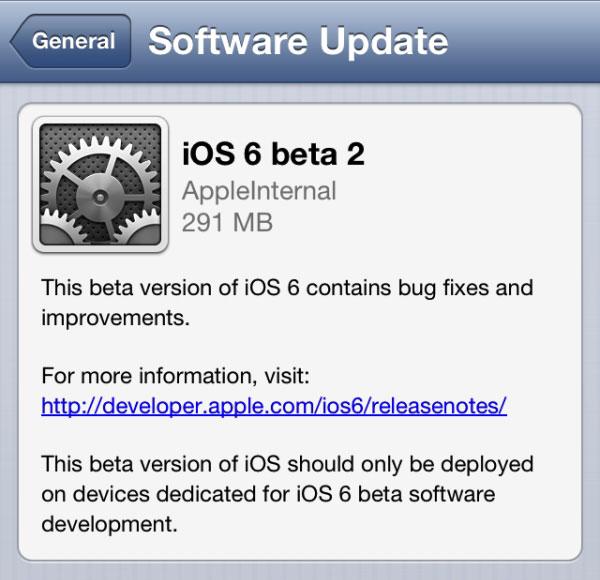 Los desarrolladores ya pueden disponer de la segunda beta de iOS 6