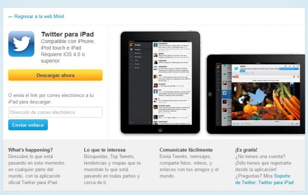 Twitter anuncia una mejora en su app para iPad