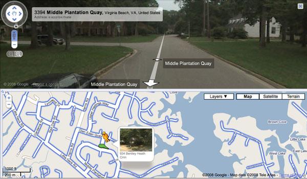Google Maps Street View para usuarios de iPhone e iPad
