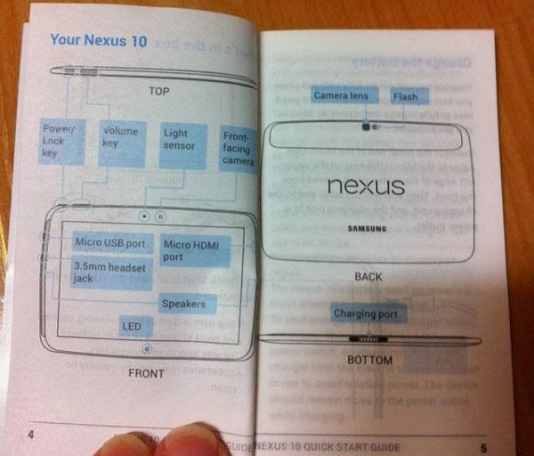El manual de uso del Samsung Nexus 10, al descubierto