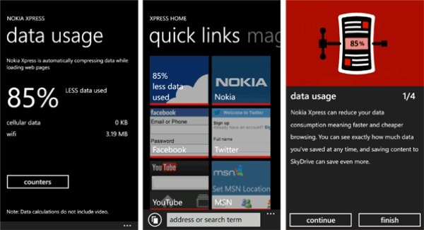 Nokia Xpress, nuevo navegador a disposición de los Lumia