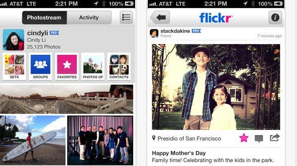 El servicio de Flickr se actualiza para iOS de Apple