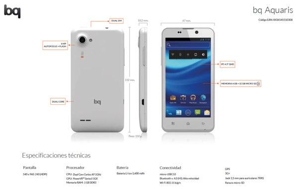 bq Aquaris, el primer Android español de bajo coste
