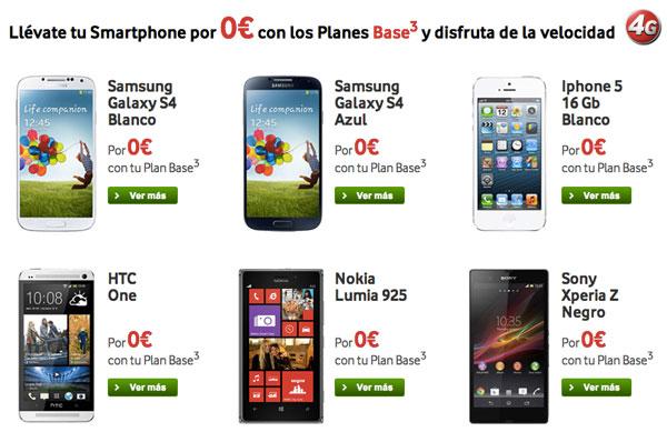 smartphones Vodafone a cero euros sólo este fin de semana