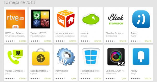 Las mejores aplicaciones de Android en 2013