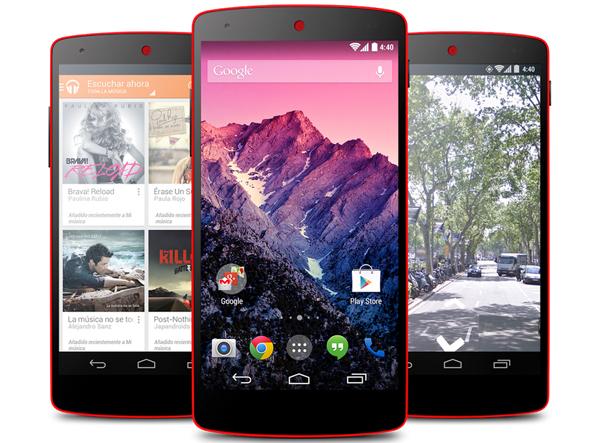 El Nexus 5, disponible en color rojo