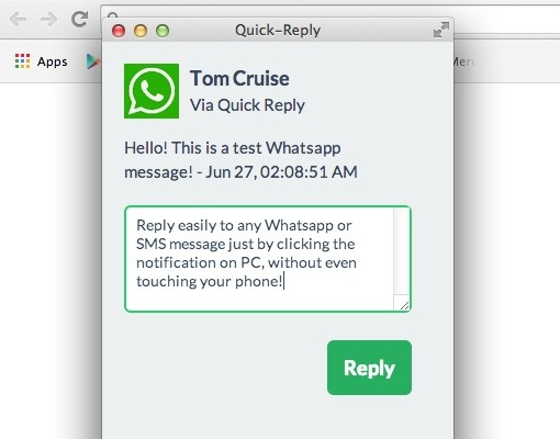 Contesta a WhatsApp desde el PC