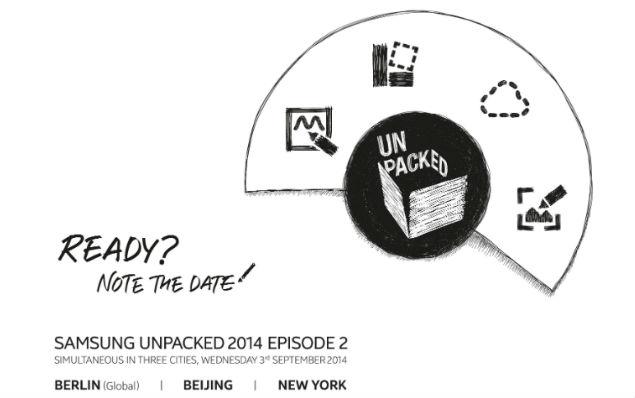 Samsung anuncia un evento el 3 de septiembre para presentar el Galaxy Note 4