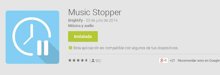 Music Stopper, para la música cuando te duermas